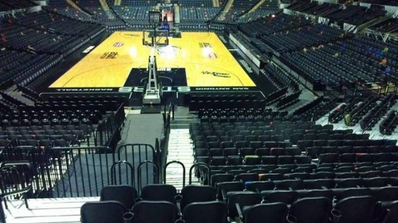 Seat view from Section 114 at the AT&T Center, home of the San Antonio Spurs