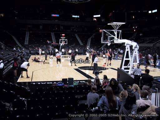 Seat view from Section 115 at the AT&T Center, home of the San Antonio Spurs