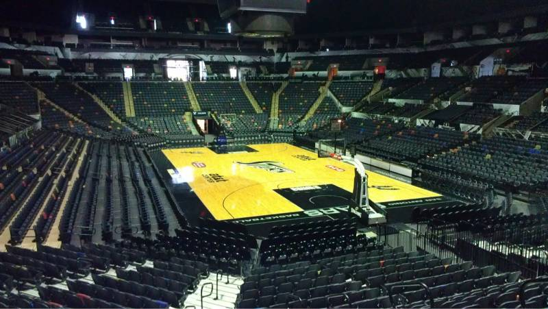 Seat view from Section 116 at the AT&T Center, home of the San Antonio Spurs
