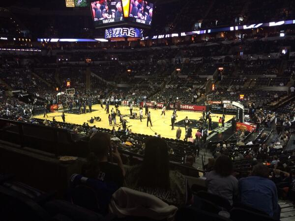 Seat view from Section 119 at the AT&T Center, home of the San Antonio Spurs