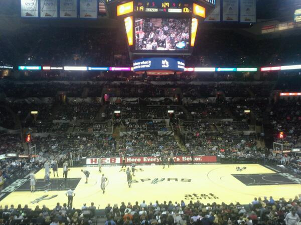 Seat view from Section 122 at the AT&T Center, home of the San Antonio Spurs