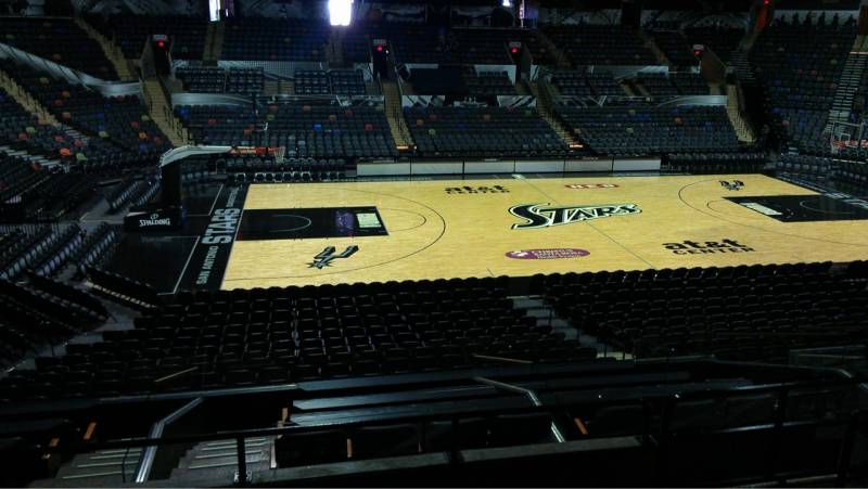 Seat view from Section 123 at the AT&T Center, home of the San Antonio Spurs