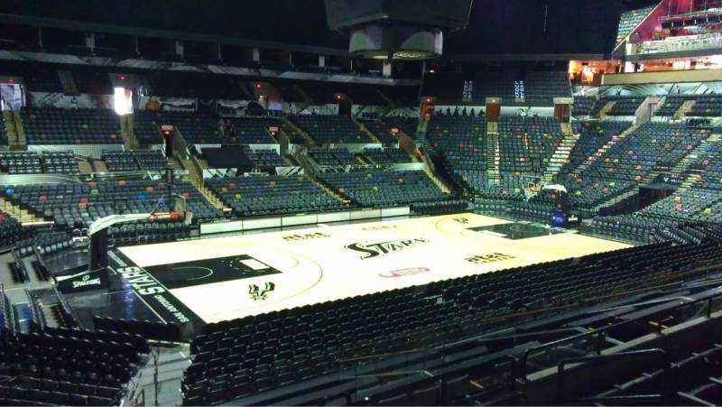 Seat view from Section 124 at the AT&T Center, home of the San Antonio Spurs