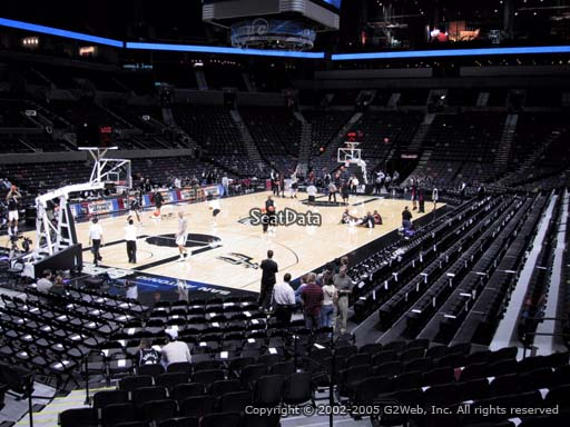 Seat view from Section 126 at the AT&T Center, home of the San Antonio Spurs