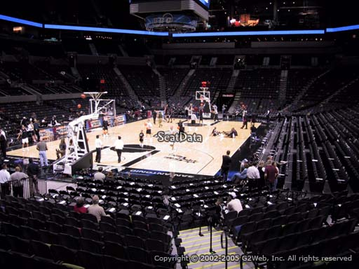 Seat view from Section 127 at the AT&T Center, home of the San Antonio Spurs