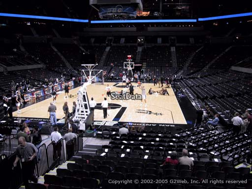 Seat view from Section 128 at the AT&T Center, home of the San Antonio Spurs