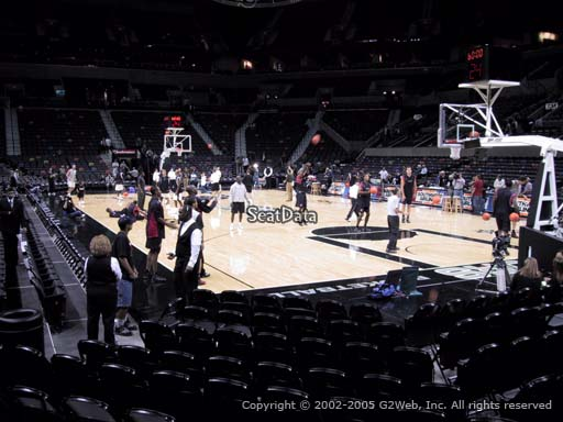 Seat view from Section 16 at the AT&T Center, home of the San Antonio Spurs