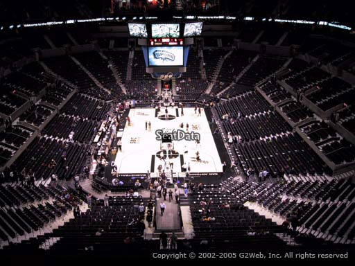 Seat view from Section 200 at the AT&T Center, home of the San Antonio Spurs