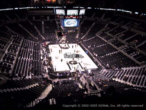 Seat view from Section 201 at the AT&T Center, home of the San Antonio Spurs