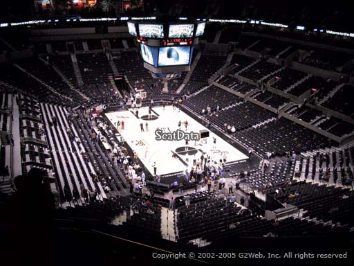 Seat view from Section 202 at the AT&T Center, home of the San Antonio Spurs