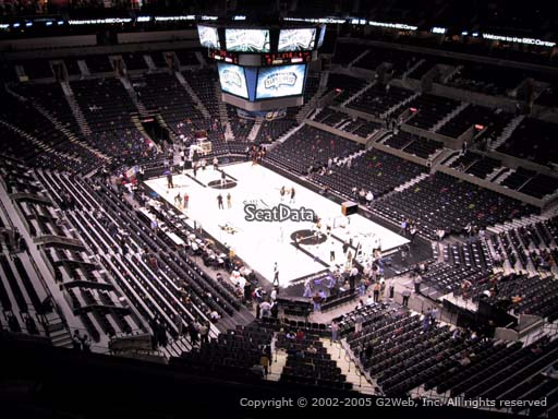 Seat view from Section 203 at the AT&T Center, home of the San Antonio Spurs