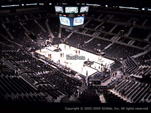 Seat view from Section 204 at the AT&T Center, home of the San Antonio Spurs