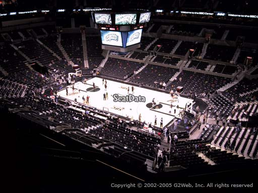 Seat view from Section 205 at the AT&T Center, home of the San Antonio Spurs