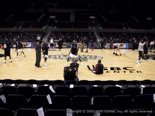 Seat view from Section 22 at the AT&T Center, home of the San Antonio Spurs