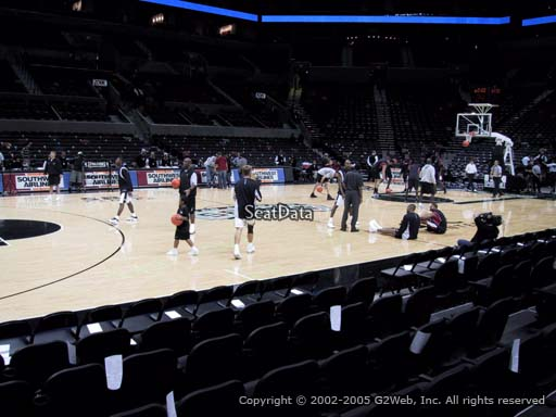 Seat view from Section 24 at the AT&T Center, home of the San Antonio Spurs