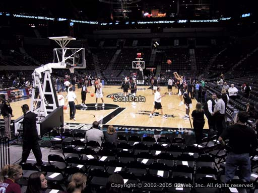 Seat view from Section 28 at the AT&T Center, home of the San Antonio Spurs