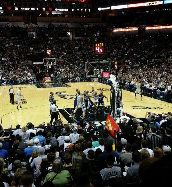 Seat view from Section 2 at the AT&T Center, home of the San Antonio Spurs