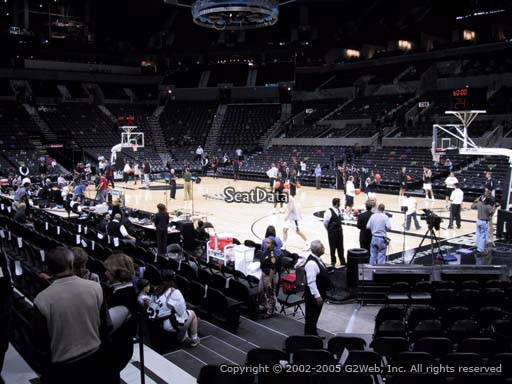 Seat view from Section 4 at the AT&T Center, home of the San Antonio Spurs