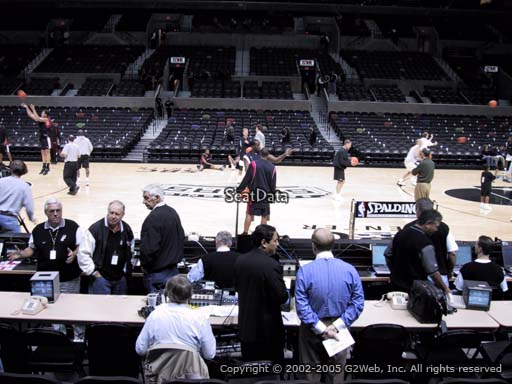 Seat view from Section 8 at the AT&T Center, home of the San Antonio Spurs
