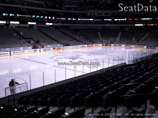 Seat view from section 109 at the American Airlines Center, home of the Dallas Stars