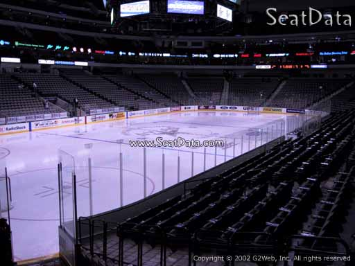 Seat view from section 110 at the American Airlines Center, home of the Dallas Stars