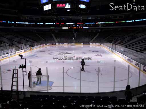 Seat view from section 112 at the American Airlines Center, home of the Dallas Stars