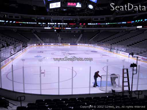 Seat view from section 113 at the American Airlines Center, home of the Dallas Stars