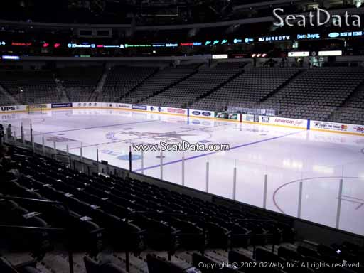 Seat view from section 116 at the American Airlines Center, home of the Dallas Stars