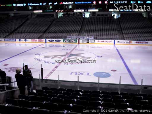 Seat view from section 118 at the American Airlines Center, home of the Dallas Stars