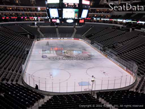 Seat view from section 202 at the American Airlines Center, home of the Dallas Stars