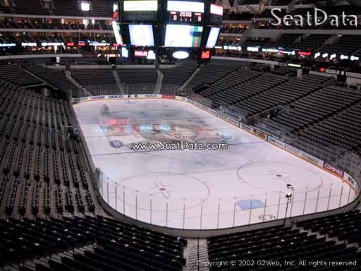 Seat view from section 203 at the American Airlines Center, home of the Dallas Stars