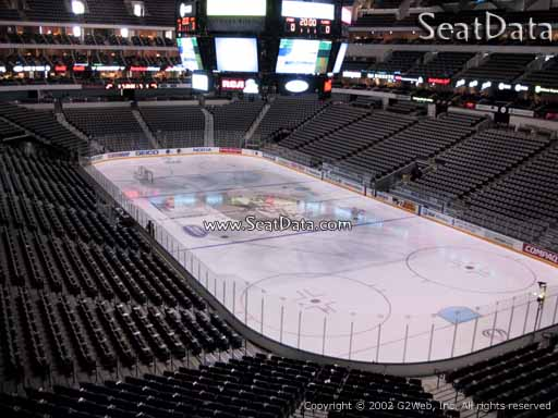 Seat view from section 204 at the American Airlines Center, home of the Dallas Stars