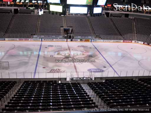 Seat view from section 209 at the American Airlines Center, home of the Dallas Stars
