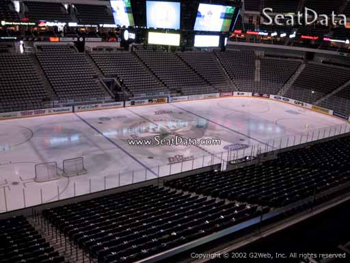 Seat view from section 211 at the American Airlines Center, home of the Dallas Stars