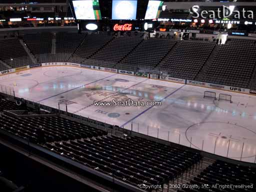 Seat view from section 215 at the American Airlines Center, home of the Dallas Stars