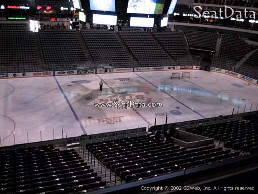 Seat view from section 219 at the American Airlines Center, home of the Dallas Stars