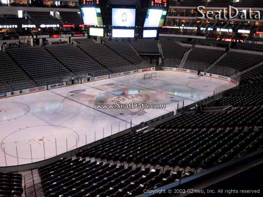 Seat view from section 221 at the American Airlines Center, home of the Dallas Stars