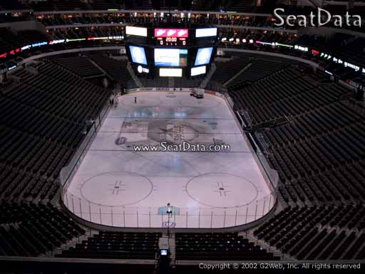 Seat view from section 301 at the American Airlines Center, home of the Dallas Stars