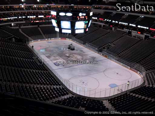 Seat view from section 304 at the American Airlines Center, home of the Dallas Stars