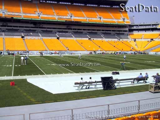Seat view from section 109 at Heinz Field, home of the Pittsburgh Steelers