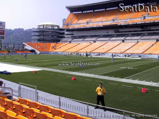 Seat view from section 114 at Heinz Field, home of the Pittsburgh Steelers