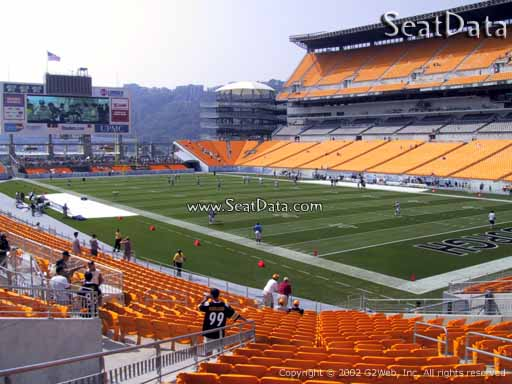 Seat view from section 118 at Heinz Field, home of the Pittsburgh Steelers