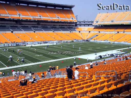 Seat view from section 207 at Heinz Field, home of the Pittsburgh Steelers