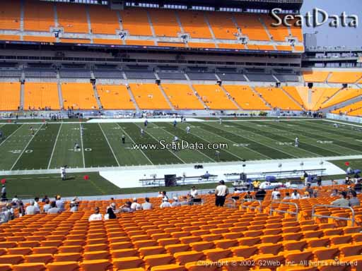 Seat view from section 210 at Heinz Field, home of the Pittsburgh Steelers