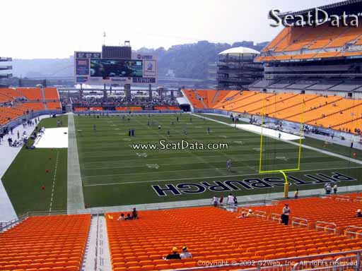 Seat view from section 221 at Heinz Field, home of the Pittsburgh Steelers