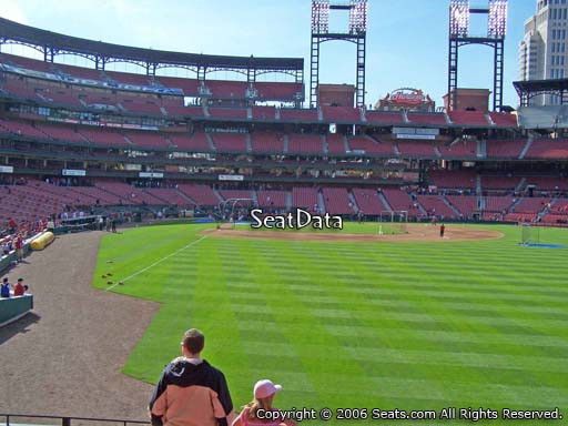 Seat view from section 128 at Busch Stadium, home of the St. Louis Cardinals