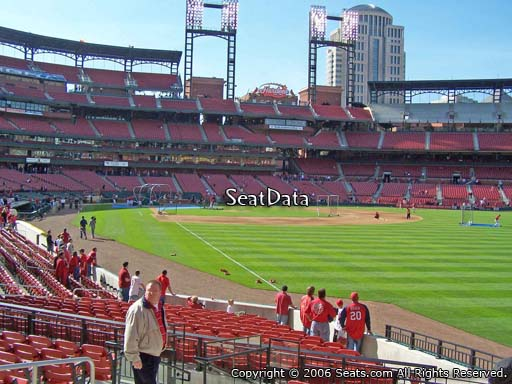 Seat view from section 131 at Busch Stadium, home of the St. Louis Cardinals