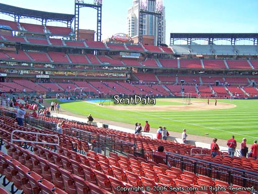 Seat view from section 134 at Busch Stadium, home of the St. Louis Cardinals