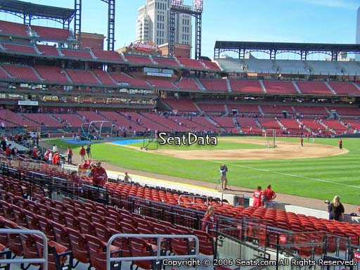 Seat view from section 136 at Busch Stadium, home of the St. Louis Cardinals