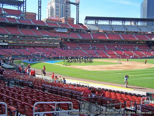 Seat view from section 137 at Busch Stadium, home of the St. Louis Cardinals